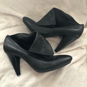 Coach Alexandria Leather Bootie heel